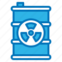 barrel, ecology, energy, green, nuclear icon