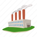 cartoon, exhaust, fog, plant, power, station, thermal icon