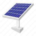 cartoon, data, details, digital, environmental, solar, technology icon