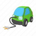 car, cartoon, eco, green, hybrid, motor, transport icon