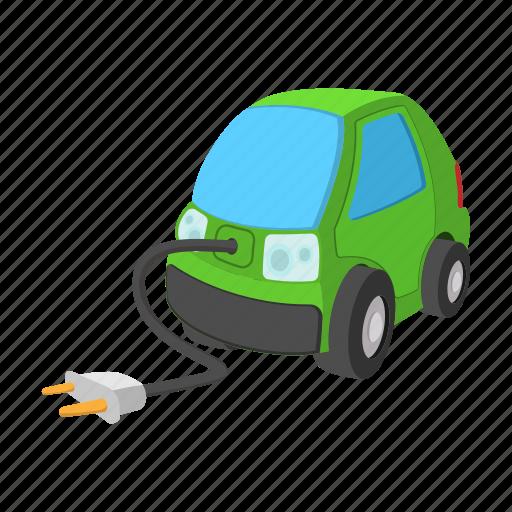 car, cartoon, eco, green, hybrid, motor, transport icon