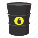 barrel, butt, cartoon, drop, gas, oil, petrol icon