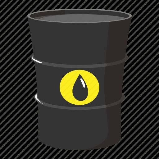 Barrel butt cartoon drop gas oil petrol icon icon for Motor oil by the barrel