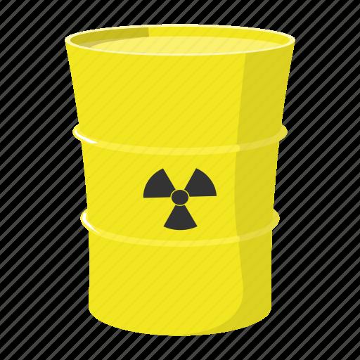 barrel, butt, cartoon, metal, nuclear, roll, vat icon