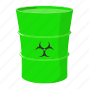 barrel, biohazard, cartoon, hazard, refuse, steel, toxic icon
