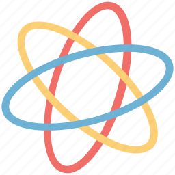 atom, chemistry, molecule, sign, technology icon