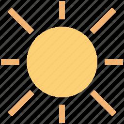 day, heat-temperature, hot, shiny, sun, sunlight, sunny, weather icon