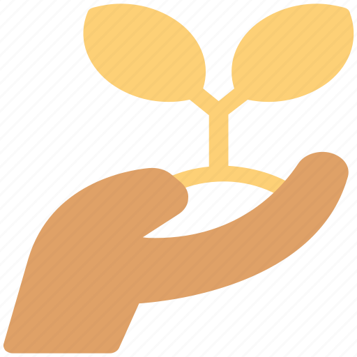agriculture, ecosystem, environment, farmer, hand sapling, nature, planting, protection icon