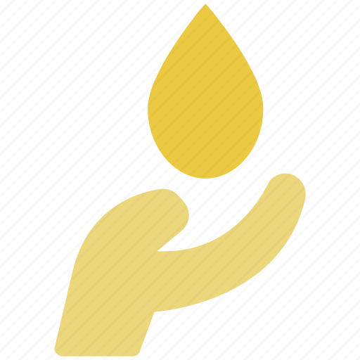 care, drop on palm, hand protecting water, harmony, organic, palm icon