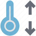 mercury thermometer, temperature, thermometer, up and down icon