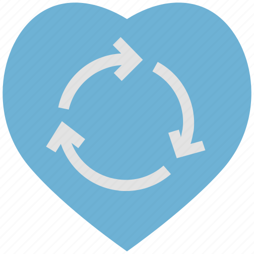 concept, heart, refresh, reload, sign icon