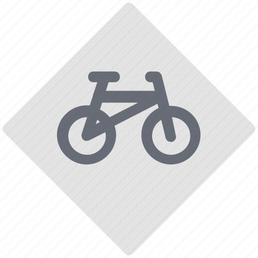 bike route, cycling, directional sign, road sign, traffic sign icon