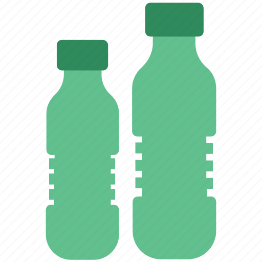 bottles, drink, drinking water, plastic, purified water, tonic water, two water bottles, water bottles icon