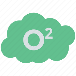 gas, oxygen, oxygen symbol, sign icon
