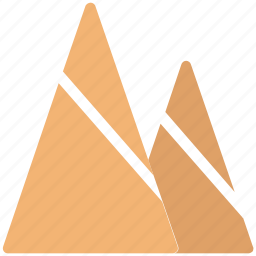hills, mountains, nature, snowy, triangle shape icon