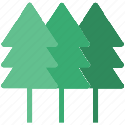 fir trees, forest, greenery, jungle, larch, nature, three, trees icon