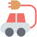 alternative vehicle, electric car, electric vehicle, hybrid car, hybrid vehicle icon