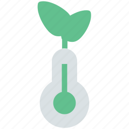 concept, eco, environment, graphic, growth, stem, thermometer, thermometer plant icon