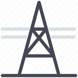 electric pole, electricity, electricity pylon, power supply, tower icon