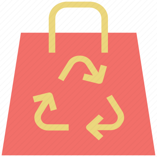 clean, environmentalist, recycling, recycling symbol, reusable bag, sign icon