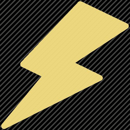 lightning, natural, nature, power lightning, thunder bolt icon
