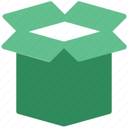 box, cardboard box, carton, open, packing icon