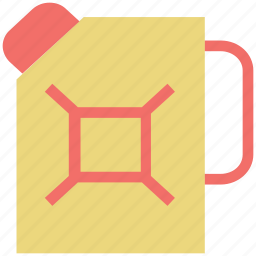 canister, gas can, jerrycan, plastic, reservekanister icon