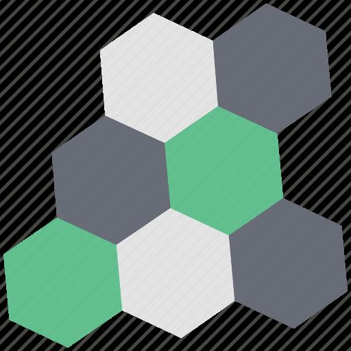 beeswax, cell, hexagon, honeycomb, shape icon