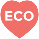 eco, eco heart logo, eco leaf icon, eco sign, eco word icon