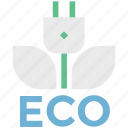 alternative energy, concept, eco, electric plug, environmental conservation icon