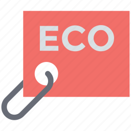 eco, eco label, eco tag, label, merchandise, tag icon