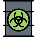 eco, ecology, nuclear, recycle, waste icon