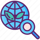 global, magnifier, plant, research