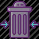 bin, reduction, trash, waste icon