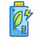 battery, charging, ecology, electronics, environment icon