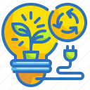 ecology, electricity, invention, bulb, environment icon