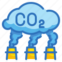 co2, ecology, environment, poison, pollution icon