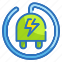 ecology, electricity, plug, solar, sun icon