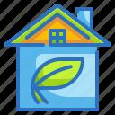 architecture, ecology, environment, estate, house icon
