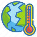 ecology, environment, temperature, thermometer, warming icon