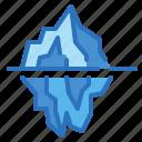 cold, glacier, iceberg, polar icon