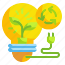 bulb, ecology, electricity, environment, invention icon