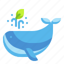 animals, ecology, environment, ocenic, whale icon