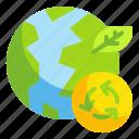 ecology, environment, nature, sustainable, world icon