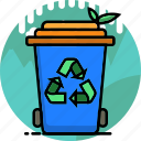 ecology, environment, garden, plant, recycle bin, remove, trash icon
