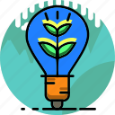 ecology, electric, electricity, energy, environment, idea, lamp icon