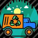 car, ecology, garbage, recycle bin, transport, trash icon