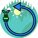 eco, ecology, electric, electricity, energy, leaf, reuse icon