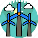 cloud, ecology, electric, energy, environment, power, windmill icon