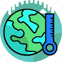 earth, eco, ecology, environment, planet, temperature, thermometer icon